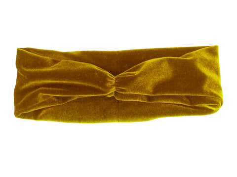 Gold Velvet Cinch Headwarmer