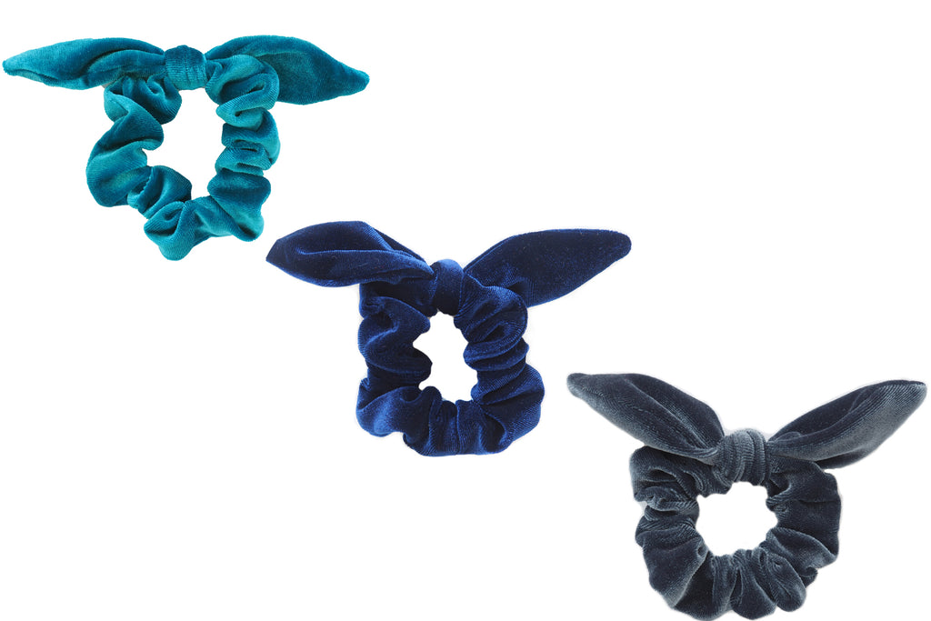 Ocean Layers Velvet Scrunchie Bundle