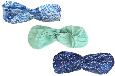 Seafoam Twist Headband Bundle