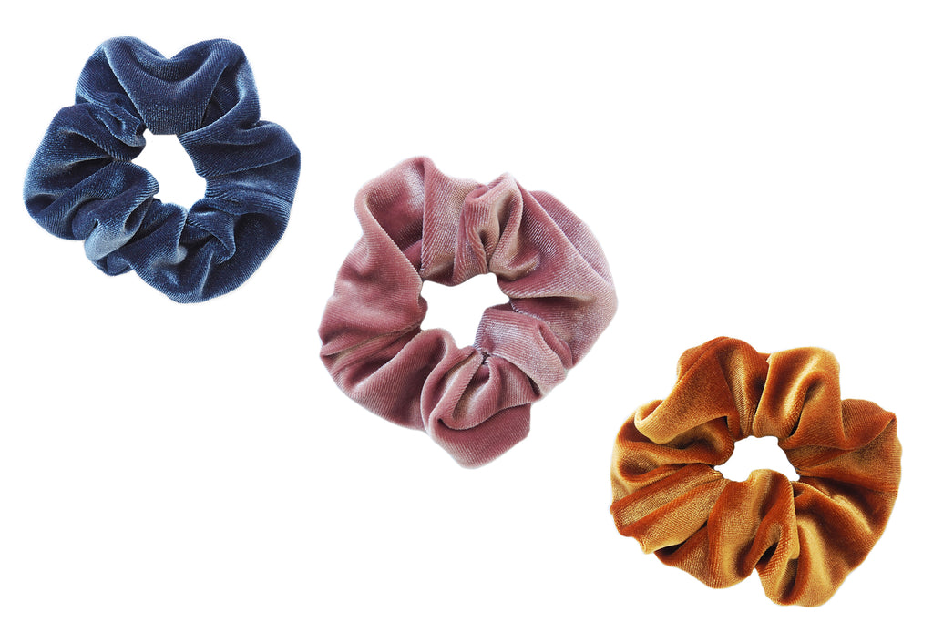 Sunset Shadows Velvet Scrunchie Bundle