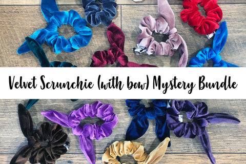 Velvet Scrunchie Mystery Bundle (w/bow)