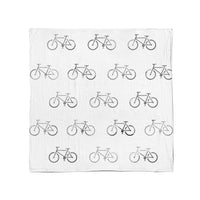 Bike Stamped Swaddle Blanket - Eli+Ryn