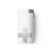 Swiss Cross Stamped Swaddle Blanket - Eli+Ryn