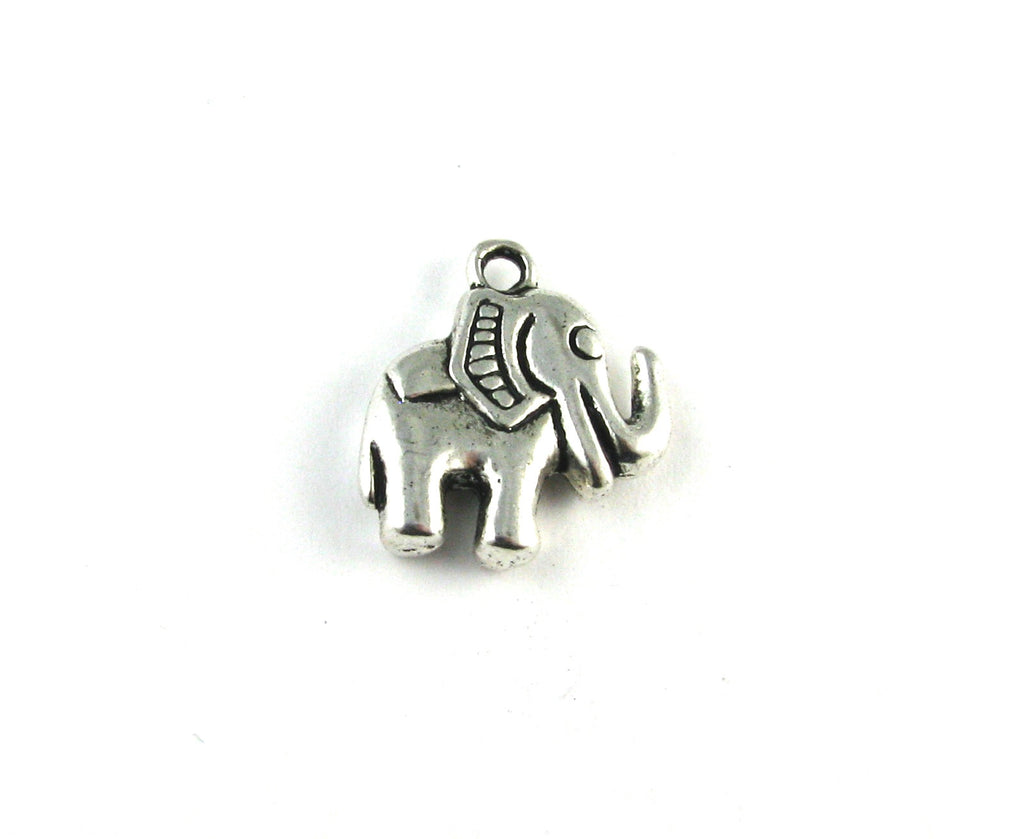 Elephant Antique Silver Charm