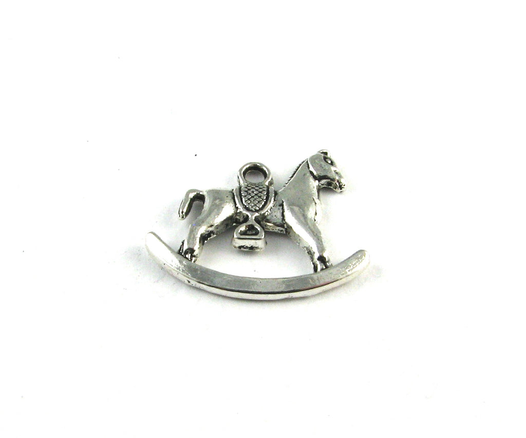 Rocking Horse Antique Silver Charm