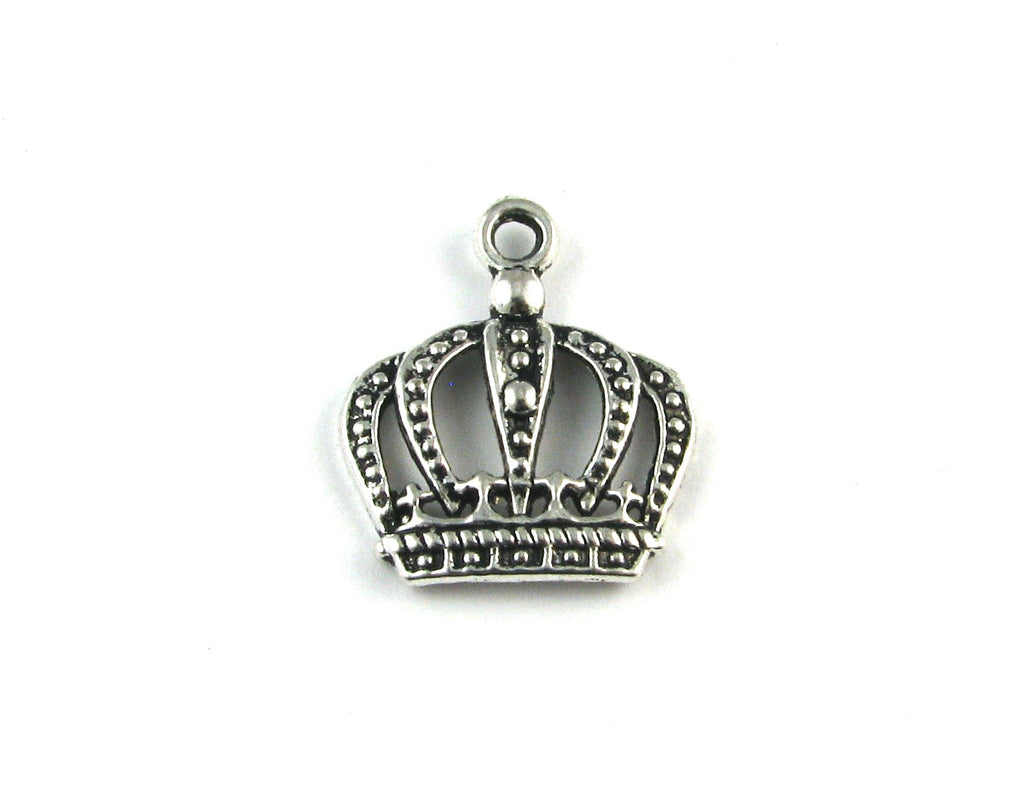 Royal Crown Antique Silver Charm