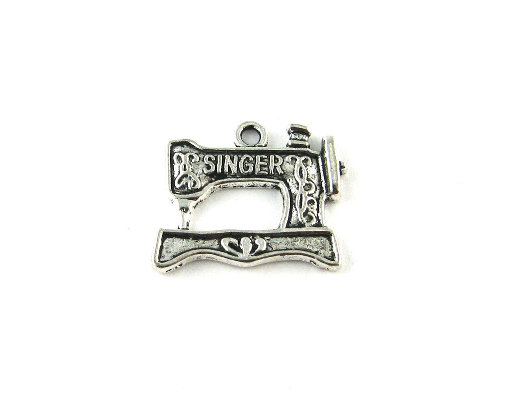 Sewing Machine Antique Silver Charm