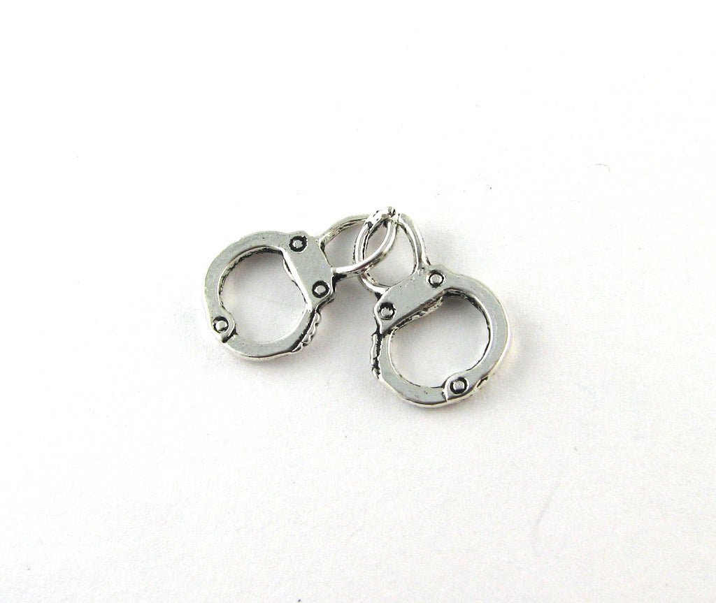 Handcuffs Antique Silver Charm