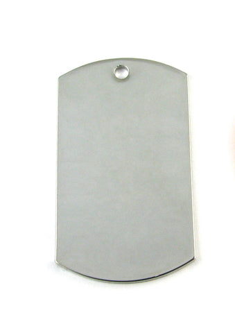 Standard Nickel Plated Dog Tag Blank Pendant (49mm x 29mm)