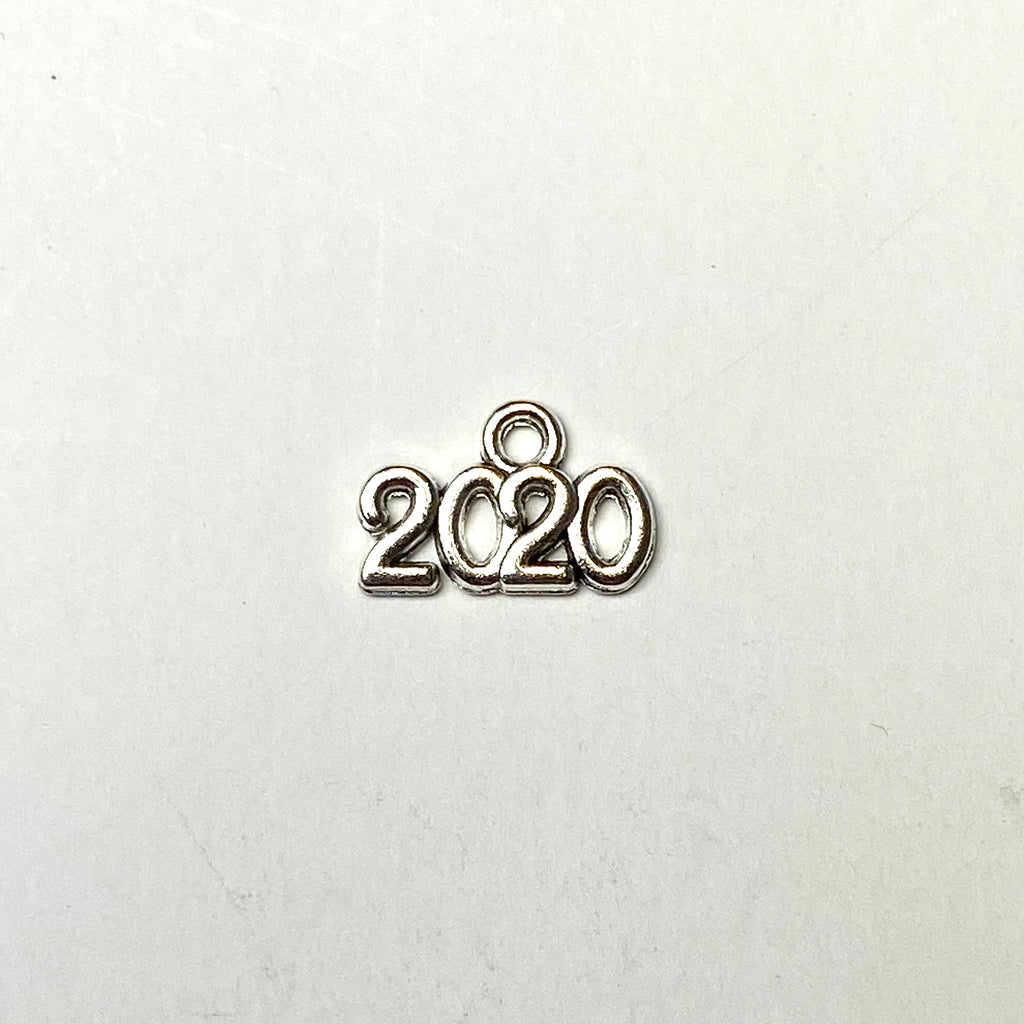 """2020"" Antique Silver Charm"