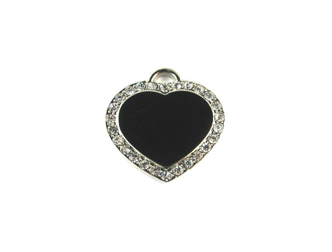 Heart Cubic Nickel Plated Blank Pendant (24mm x 24mm)
