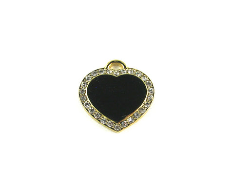 Heart Cubic Gold Plated Blank Pendant (24mm x 24mm)