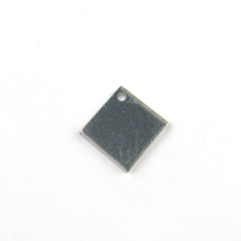 Extra Small Diamond Square Aluminum Blank Pendant (18mm x 18mm)