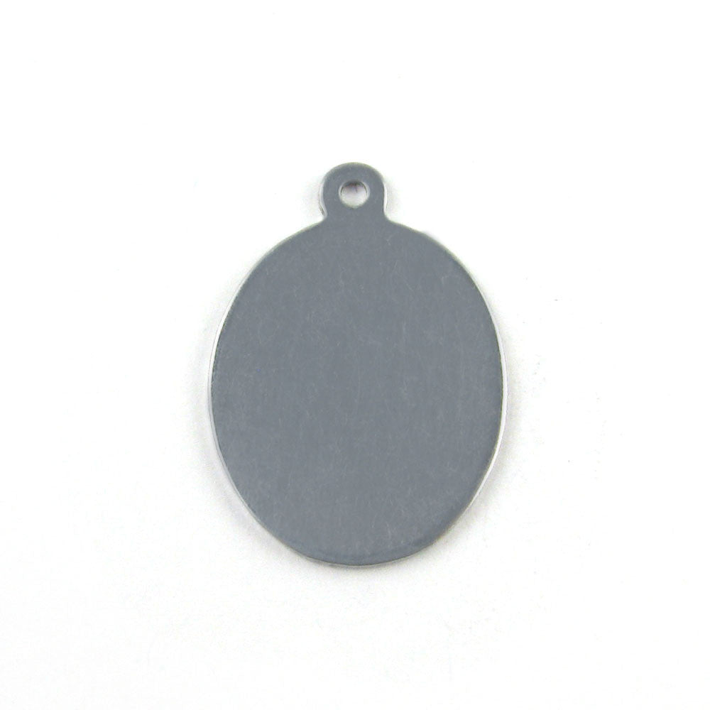 Small Oval Aluminum Blank Pendant (26mm x 18mm)