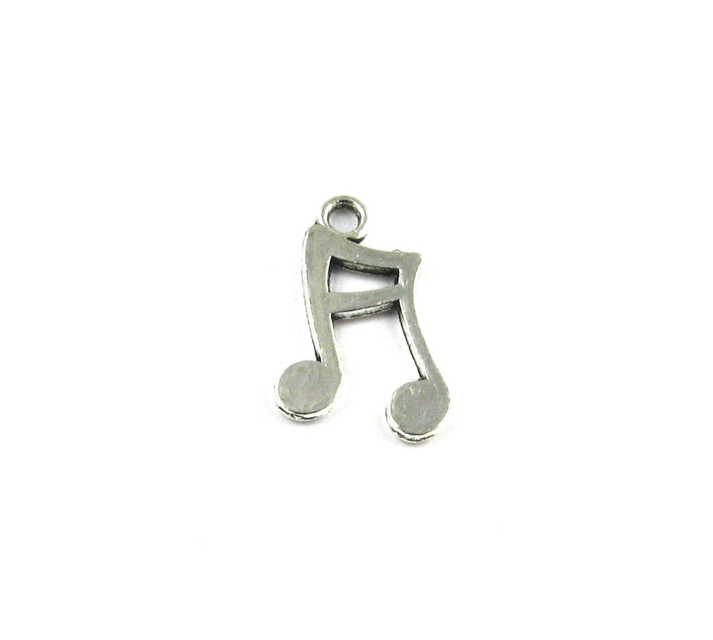 Music Note Antique Silver Charm