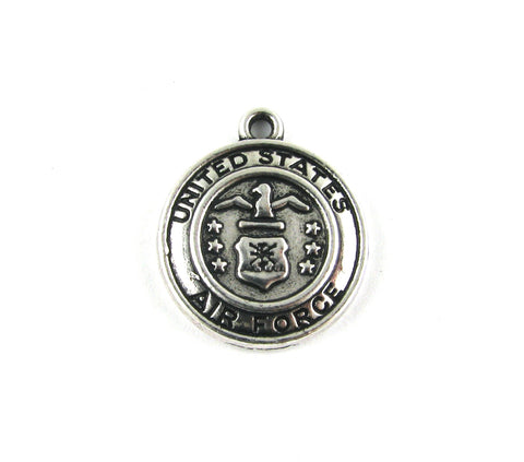 United States Air Force Antique Silver Charm