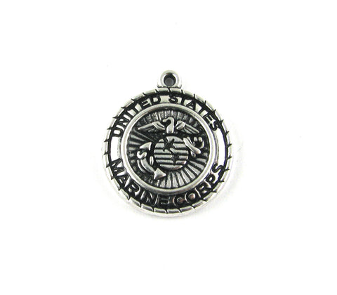 United States Marine Corps Antique Silver Charm