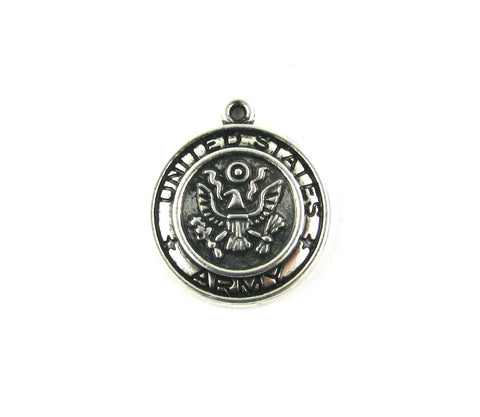 United States Army Antique Silver Charms