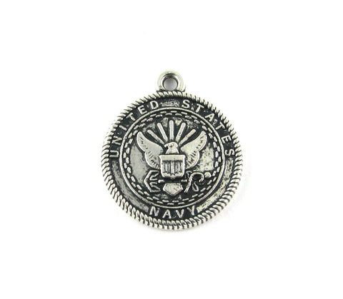 United States Navy Antique Silver Charm