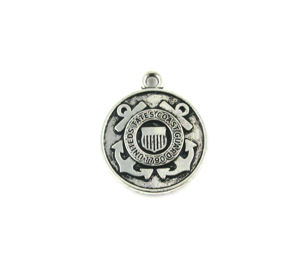 United States Coast Guard Antique Silver Charm
