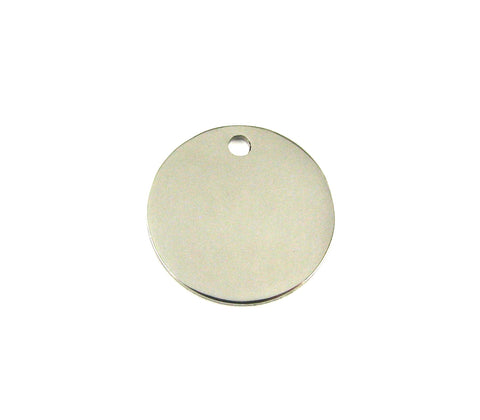 Medium Round Stainless Steel Blank Pendant (20mm Round)