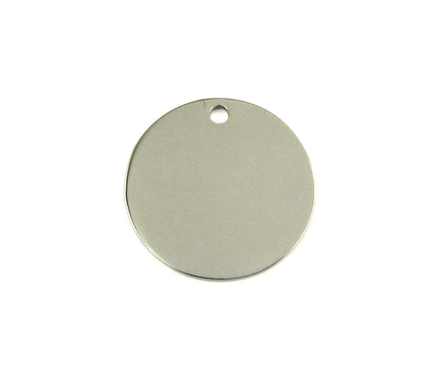 Large Round Stainless Steel Blank Pendant (25mm Round)