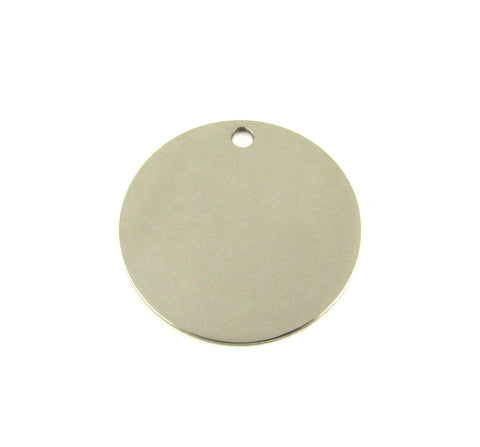 Extra Large Round Stainless Steel Blank Pendant (32mm Round)