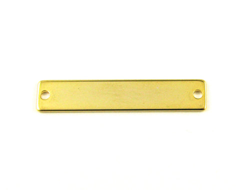 Long Bar 16k Gold Plated Blank Pendant (8mm x 40mm)