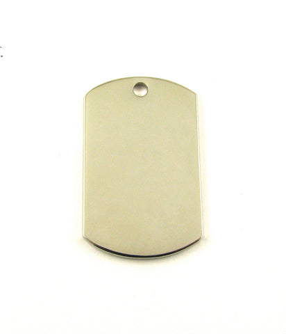 Mini Dog Tag Nickel Plated Blank Pendant (35mm x 22mm)