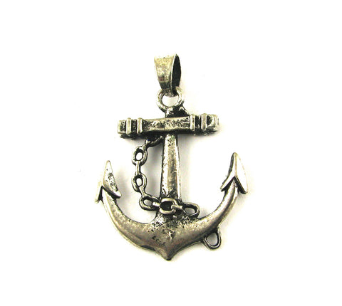 Anchor w/Chain Antique Silver Charm