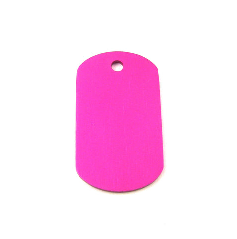 Mini Purple Aluminum Dog Tag Blank Pendant (38mm x 22mm)