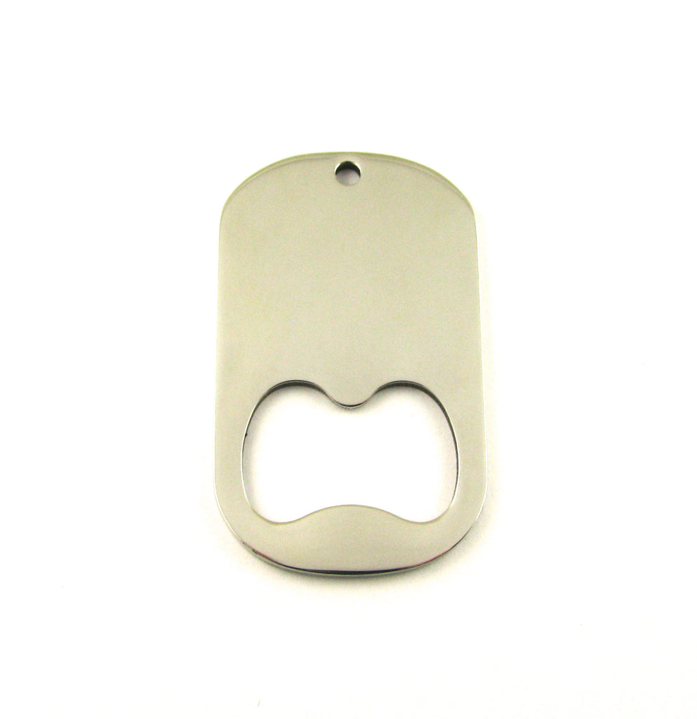 Bottle Opener Stainless Steel Blank Pendant (52mm x 31mm)