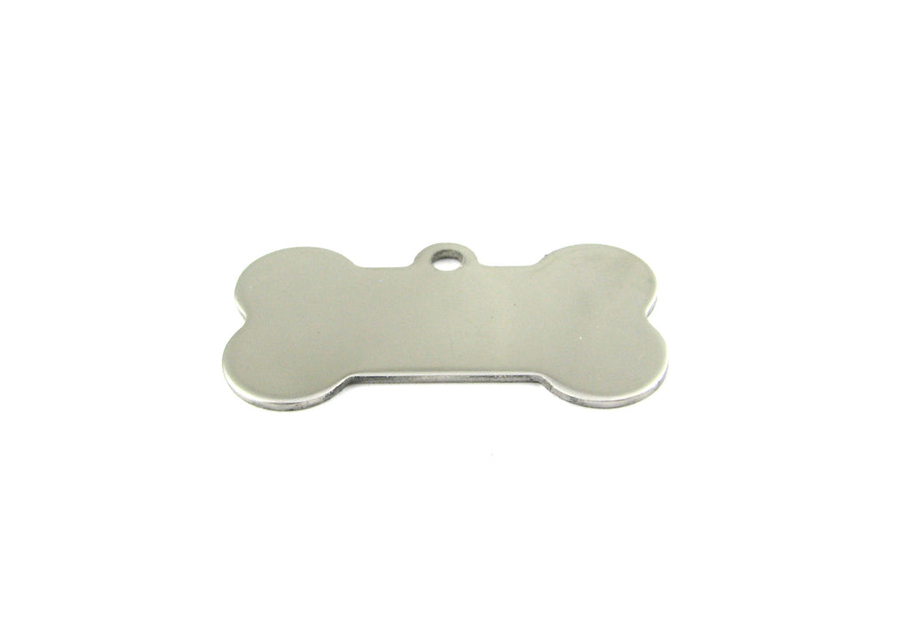 Bone Shaped Stainless Steel Blank Pendant (21mm x 39mm)