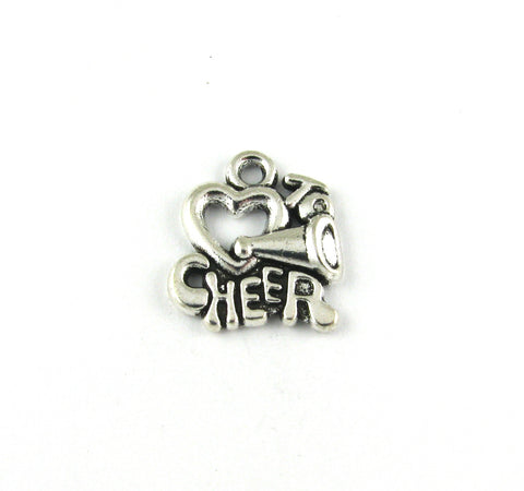 """Love to Cheer"" Antique Silver Charm"