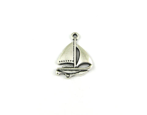 Sailing Boat Antique Silver Charm