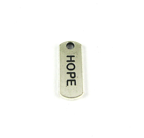 """Hope"" Antique Silver Charm"