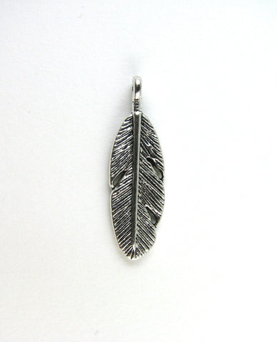 Indian Feather Tibetan Silver Charm