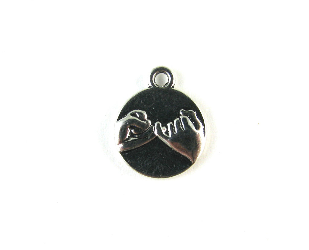 Pinky Promise Antique Silver Charm