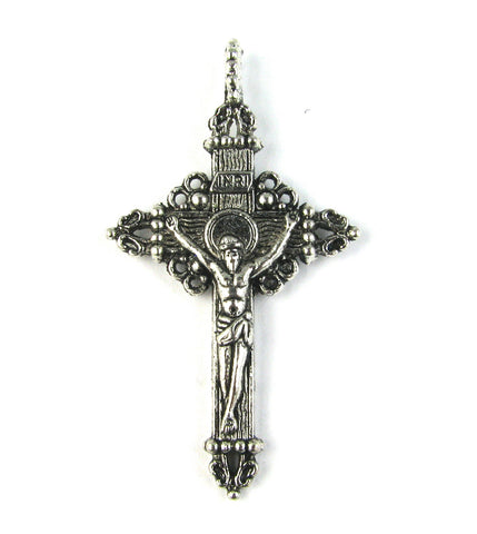 Crucifix II Antique Silver Charm