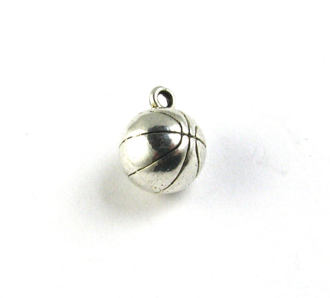 Basketball Antique Silver Charm