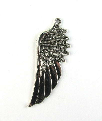 Angel Feather Wing Antique Silver Charm