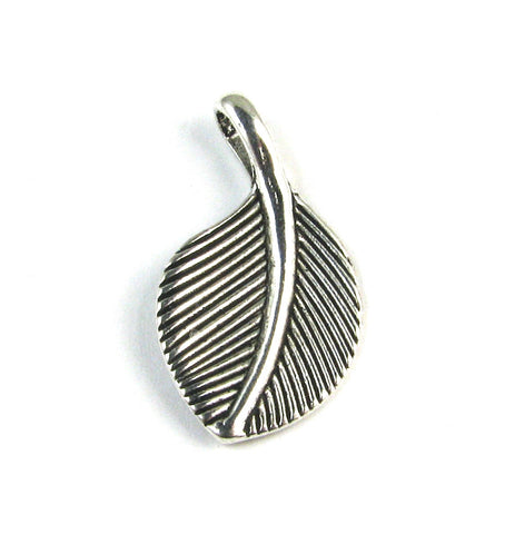 Leaf Antique Silver Charm