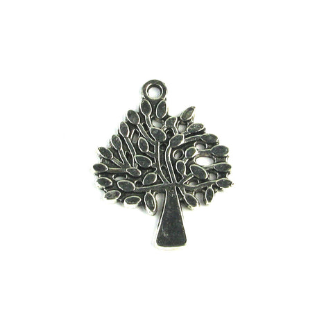Family Tree Antique Silver Charm