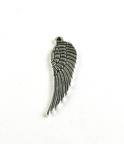 Angel Wing Antique Silver Charm