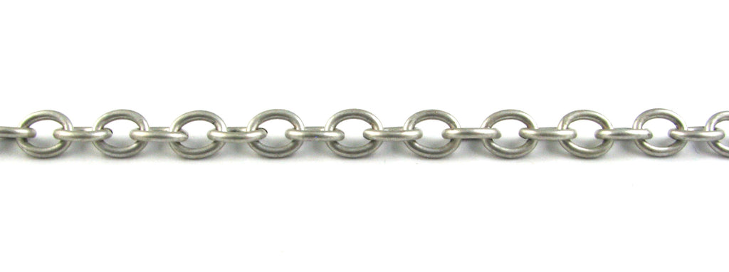 7mm Link Chain Necklace (Antique Silver, Silver Plated, Antique Brass)