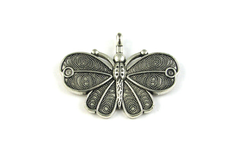 Large Swirl Butterfly Antique Silver Charm