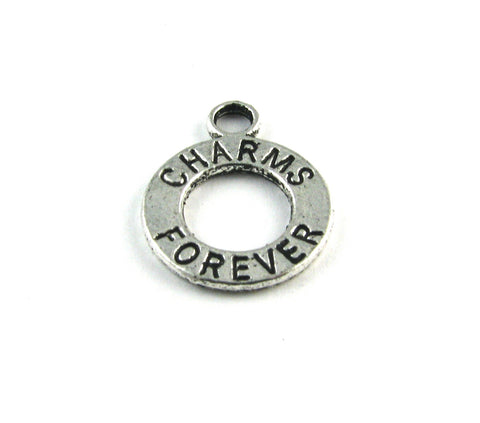 """Charms Forever"" Antique Silver Charm"