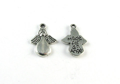 """Made for an Angel"" Angel Antique Silver Charm"