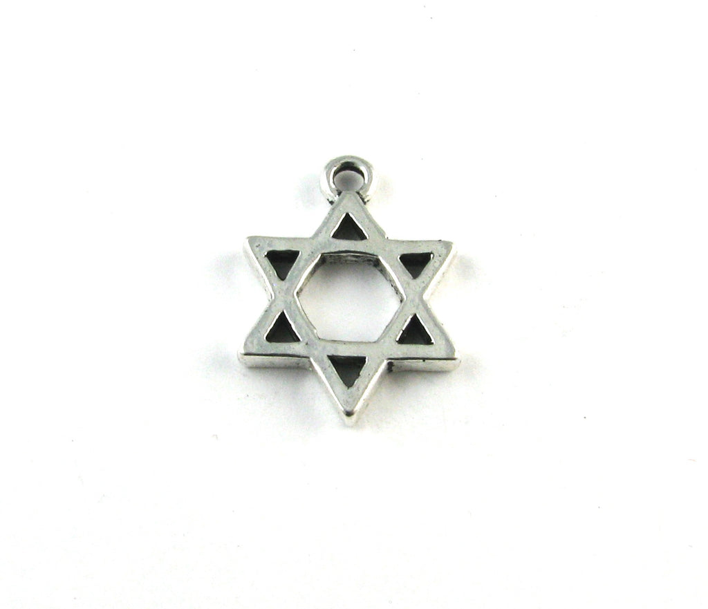 Star of David Antique Silver Charm