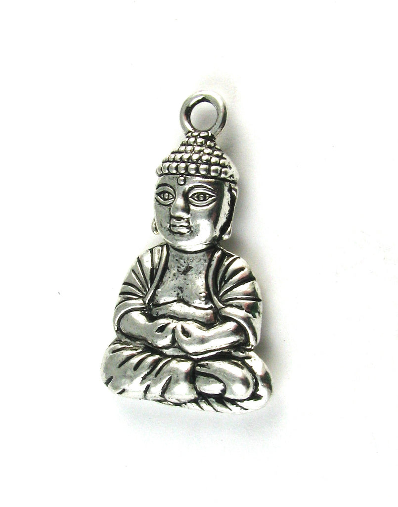 Buddha Yoga Antique Silver Charm